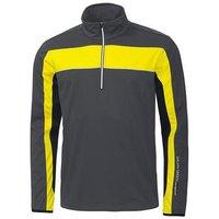 Galvin Green Blake Half-zip Windstopper Jacket - Iron/black/yellow Medium