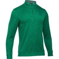 Under Armour Storm Patterned 1/4 Zip Sweater Fleece - Green Medium