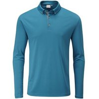Ping Flynn Long Sleeve Polo Shirt - Teal Medium