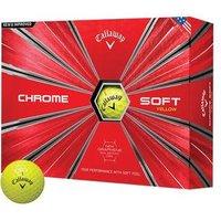 Callaway Chrome Soft Golf Balls - Yellow 1 Dozen