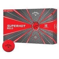 Callaway Superhot Bold Golf Balls - Red - 1 x 15 Ball Pack
