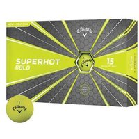Callaway Superhot Bold Golf Balls - Yellow - 1 x 15 Ball Pack