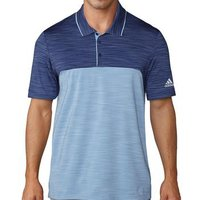 Adidas Ultimate 365 Heather Polo Shirt - Indigo/blue Medium