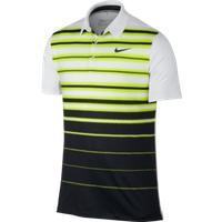 Nike Mens Mobility Fade Stripe Polo - Volt / White / Black