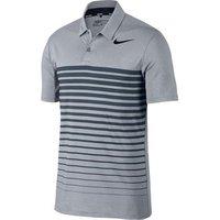 Nike Dry Heather Stripe Polo Shirt - Wolf Grey / Armoury Navy Large