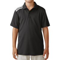 Adidas Boys Climacool 3 Stripes Polo - Black