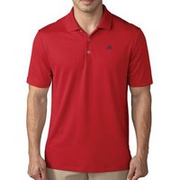 Adidas Performance Polo Shirt - Scarlet Gender: Mens, Size: Small, Colour: Scarlet