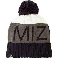 Mizuno Bobble Hat - Black / Charcoal / White