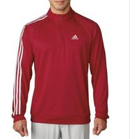 Adidas 3 Stripe 1/4 Zip LC Pullover - Red