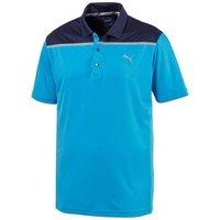 Bonded Colour Block Polo - Bleu Arur Mens Medium Blue