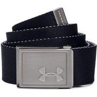 Boys Ua Solid Webbing Belt - Black Junior Black Osfa