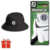Bucket Hat And Glove Gift Pack Mens Medium Black Mens Left Small 1 Glove
