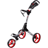Cube Golf Push Trolley - Silver/Red