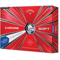 Callaway Chrome Soft Truvis Golf Balls 2019 - White/blue 1 Dozen