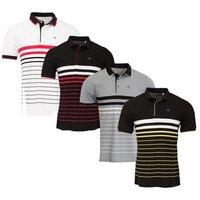 Calvin Klein Mens Vital Golf Polo Shirt - Black / Yellow / White X Large (D14)