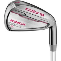 Cobra King F6 Womens Irons - Raspberry Ladies Right MFS Series 55 Ladies 5-PW+SW
