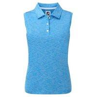 FootJoy Ladies Interlock Sleeveless Shirt - Electric Blue Large