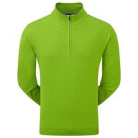FootJoy Mens Lambswool Lined 1/2 Zip Pullover - Fuel Green X Large