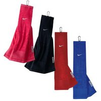 Nike Tri Fold Golf Bag Towel - Black
