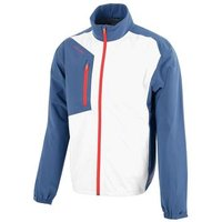 Andres Gore-tex Paclite Jacket - Ensign Blue/white/rust Mens Small Blue