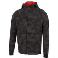 Dolph Full Zip Hoodie - Black/red Mens Small Black