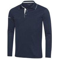 Marc Ventil8 Long Sleeve Golf Shirt NavySnow Mens Medium NavySnow