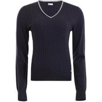 Bailey Cable Sweater Ladies 12 White/Black