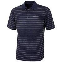 Greg Norman Fine Stripe Pique Polo Shirt - Navy Small