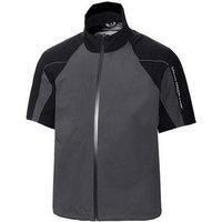 Galvin Green Argo Short Sleeve C-Knit Jacket - Iron Grey/Black/White Medium