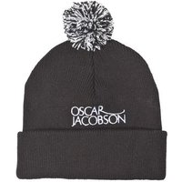 Oscar Jacobson Knitted Bobble Golf Hat II - Black OSFA