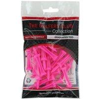 Golfers Club Neon Pink Step Height Tees (20 Tee Pack)