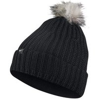 Nike Womens Beanie Knit Pom Hat - Black
