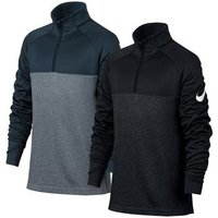 Nike Boys Half Zip Therma Top - Navy