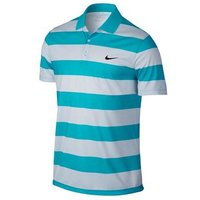 Nike Mens Victory Bold Stripe Golf Polo Shirt - Omega Blue / Grey X Large