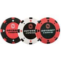 Odyssey Poker Chip Ball Marker (3 Pack)