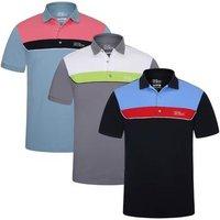 Egon Tour Polo Shirt - Grey / White / Lime - Small