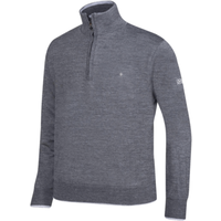 Oscar Jacobson Iwan Pin Half Zip Antracite Grey Medium