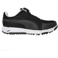 Puma Grip Sport DISC Junior Golf Shoes - Black / White UK 1