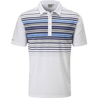 Cortes Polo Shirt Mens Small White/Blue