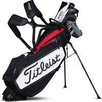 Titleist Staff Stand Bag - Black / White / Red