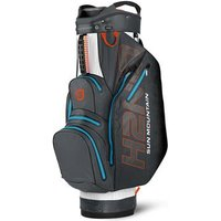 Sun Mountain H2NO Lite Cart Bag - White / Gun Metal / Orange / Light Blue