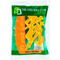 Golfers Club Yellow Step Height Tee (40 Tee Pack)