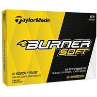 TaylorMade Burner Soft Yellow Golf Balls 1 Dozen