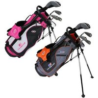 US Kids Orange Starter Golf Set 7 9 Years