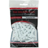 Golfers Club White Step Height Tee (20 Tee Pack)