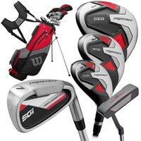 Pro Staff SGI Golf Package Set Mens Driver 3 Wood 5H 6 SW Putter Bag