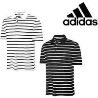 Adidas Climacool textured Stripe Golf Polo Black Small
