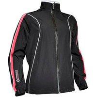 Sunderland Ladies Bergen Waterproof Jacket - Black/Firecracker - Size: Small