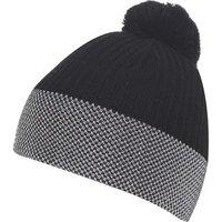 Galvin Green Bobble Hat - Black / Iron Grey / White