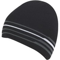 Galvin Green Brant Knitted Hat - Black / Iron Grey / White